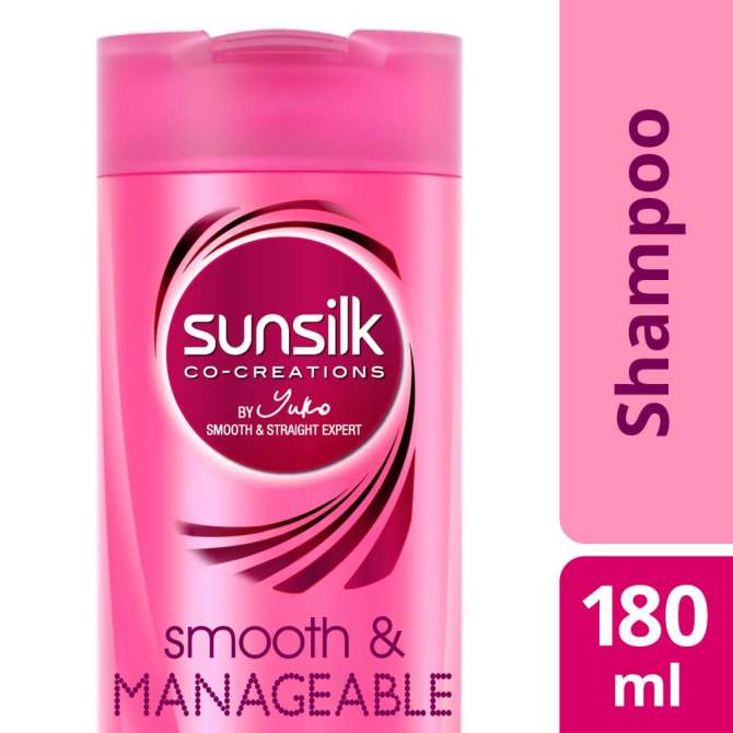 SUNSILK SHAMPOO SMOOTH & MANAGEABLE 180ML  .